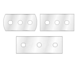 NAVAJAS DE 3-ORIFICIOS